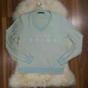"""Wildfox """"Buy me a Drink"""" Inside Out Sweatshirt Med"""